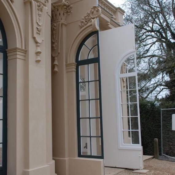Wrest Park Orangery, door restored