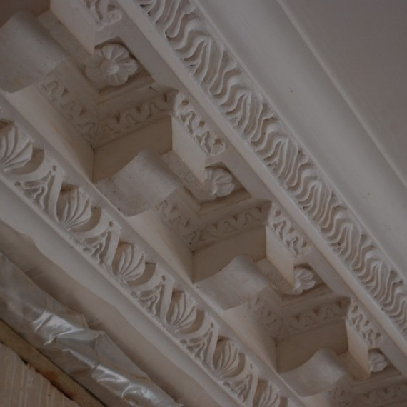 Claxby Hall, new cornice detail
