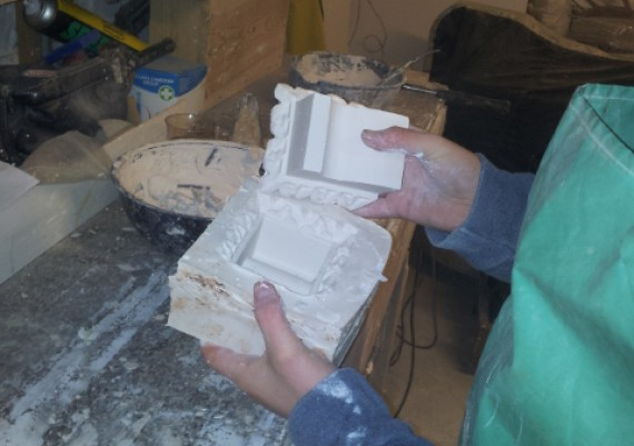 Claxby Hall, new embellishment being cast