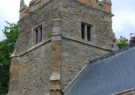 East Barkwith church, tower after repair, May 2013