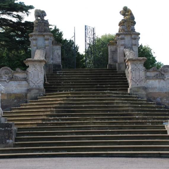 Harlaxton Front Circle steps