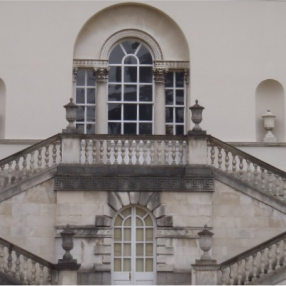 Chiswick House after repair, detail